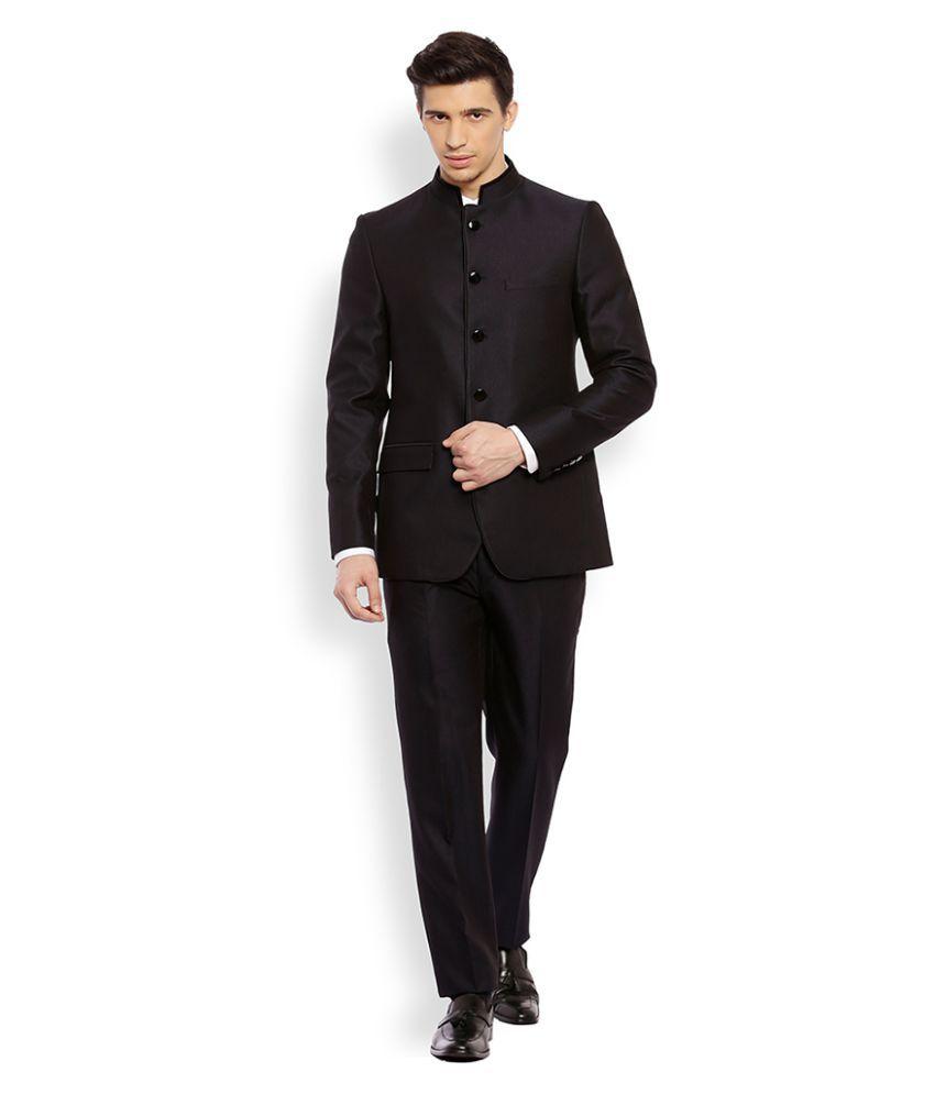 Raymond Black Solid Formal Suit