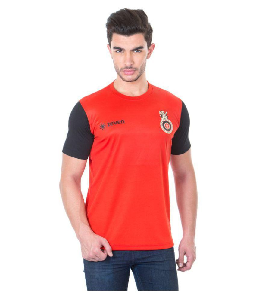 Royal Challengers Bangalore Red Polyester T-Shirt Single Pack