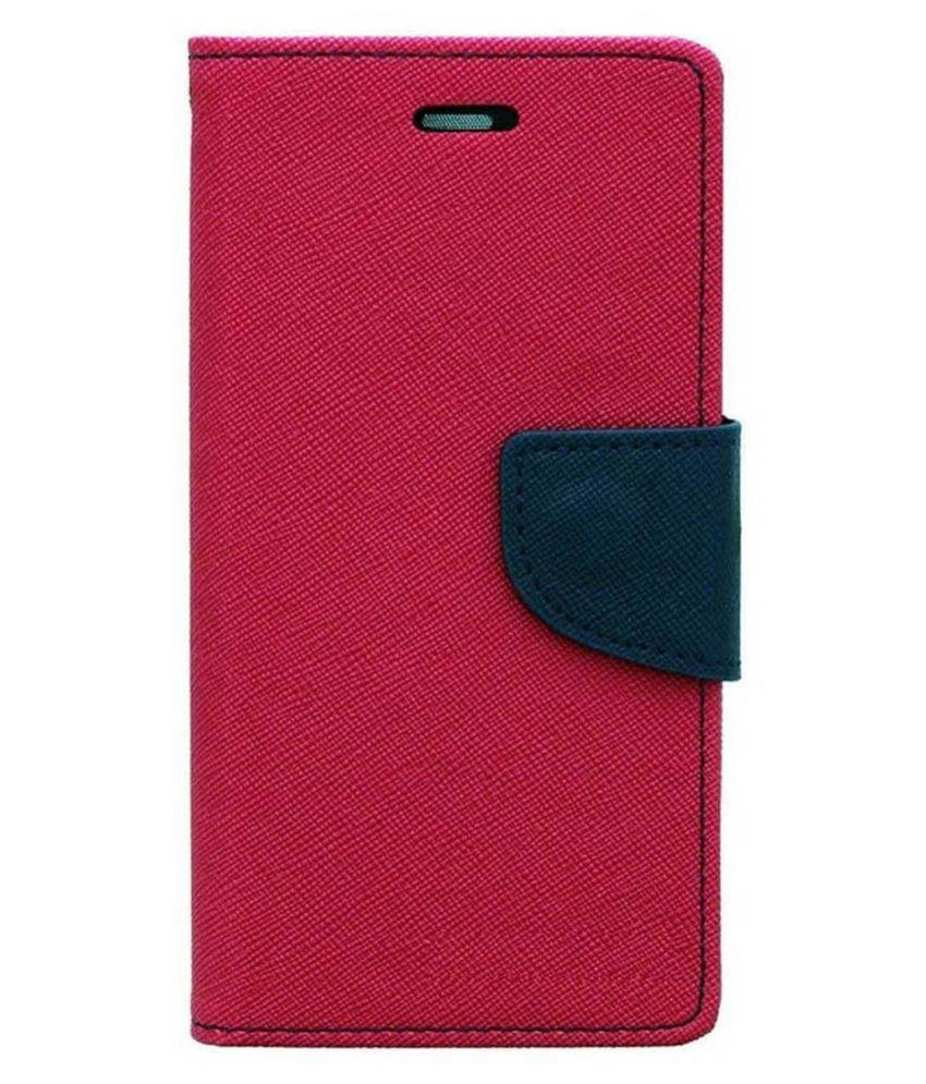 Lenovo S850 Flip Cover by MV - Pink