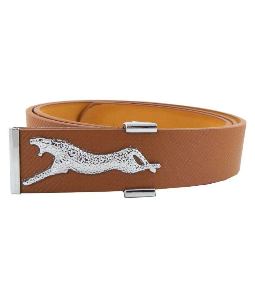 Ambaliya Fashion Tan Leather Casual Belts