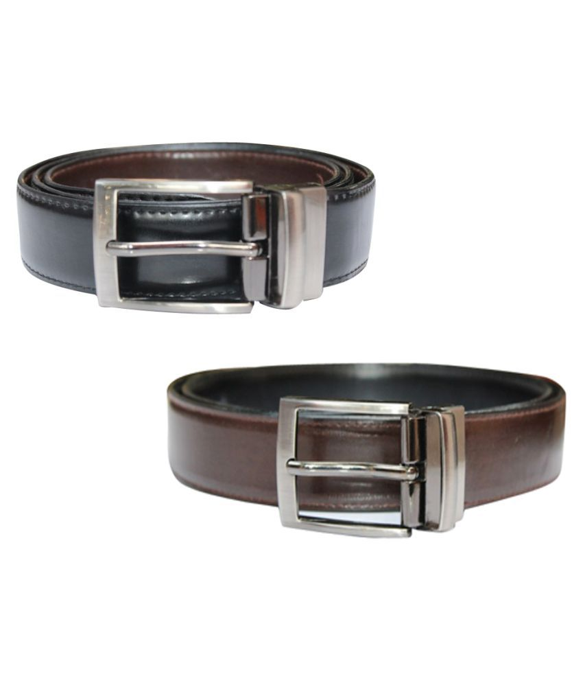 Winsome Multi PU Formal Belts - Pack of 2