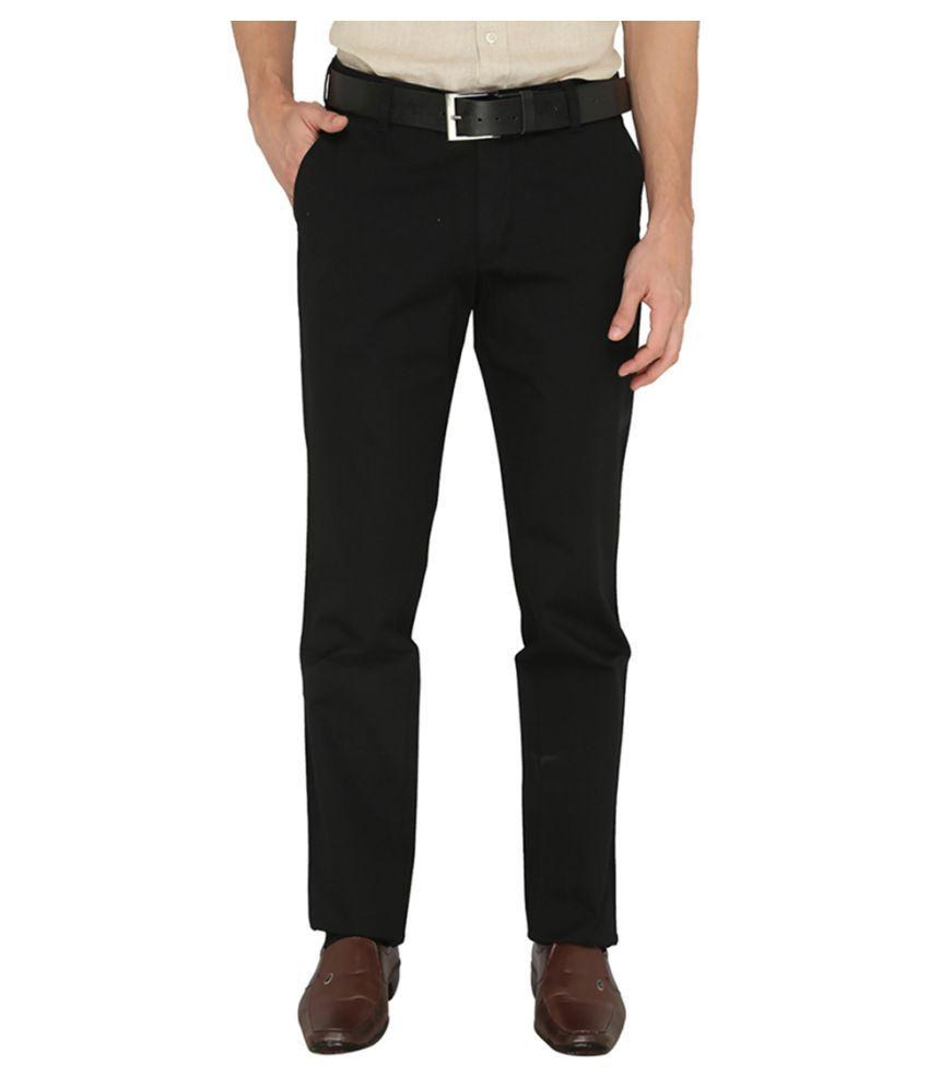 Greenfibre Black Slim Flat Trouser