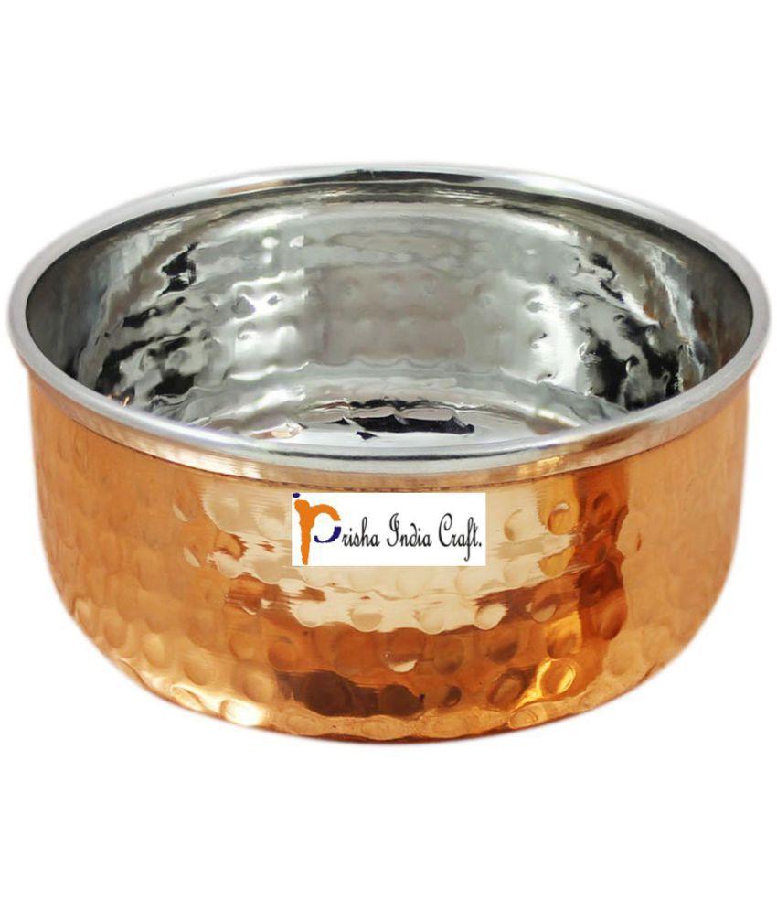Prisha India Craft Pcs Copper Dessert Bowl 180 ml