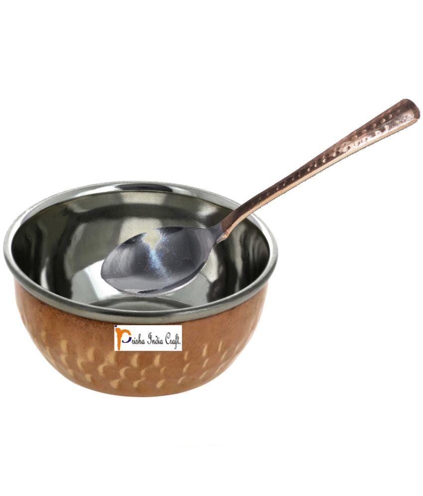 Prisha India Craft Pcs Copper Dessert Bowl 150 ml