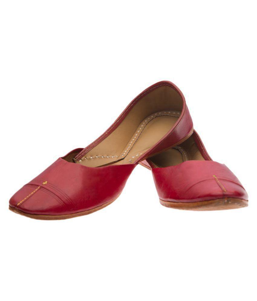 Ramayana Red Flat Ethnic Footwear