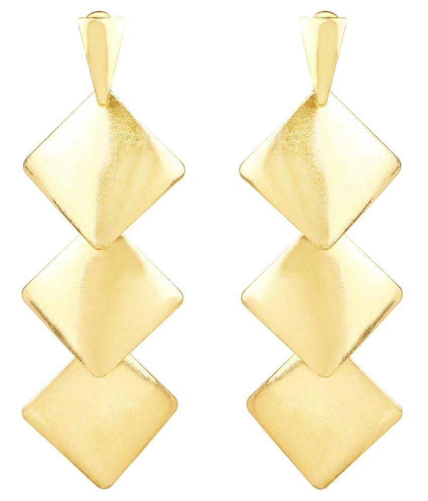 Johareez Golden Earrings