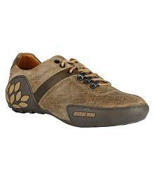 Woodland Lifestyle Khaki Casual Shoes