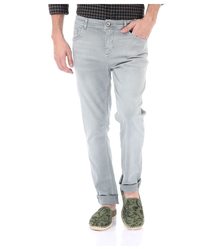 Selected Grey Slim Flat Trouser