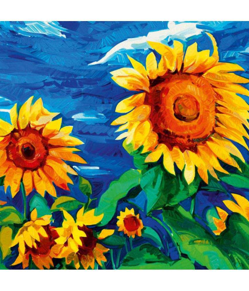 Ell Decor modern art Canvas Floral Paintings Without Frame Single Piece