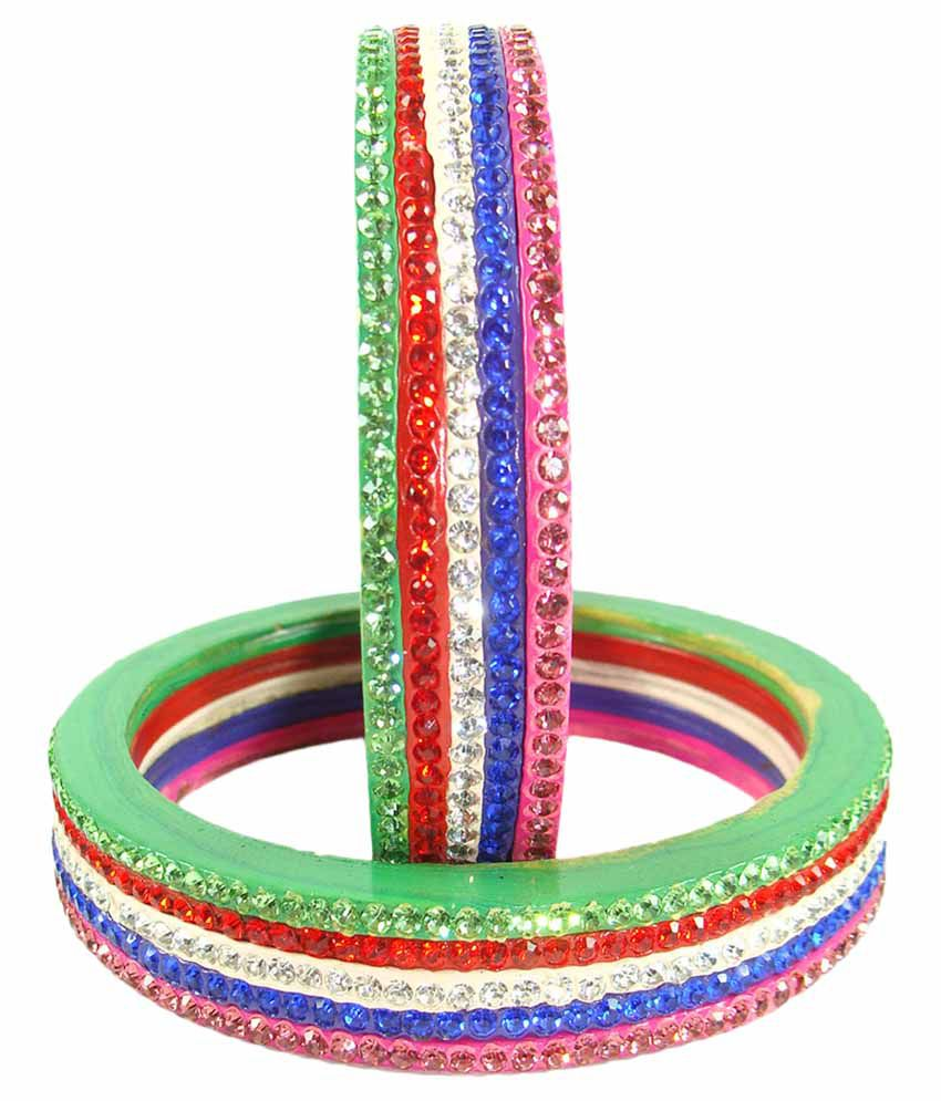 Sukriti Elegent Multicolor Lac Bangles - Set of 2