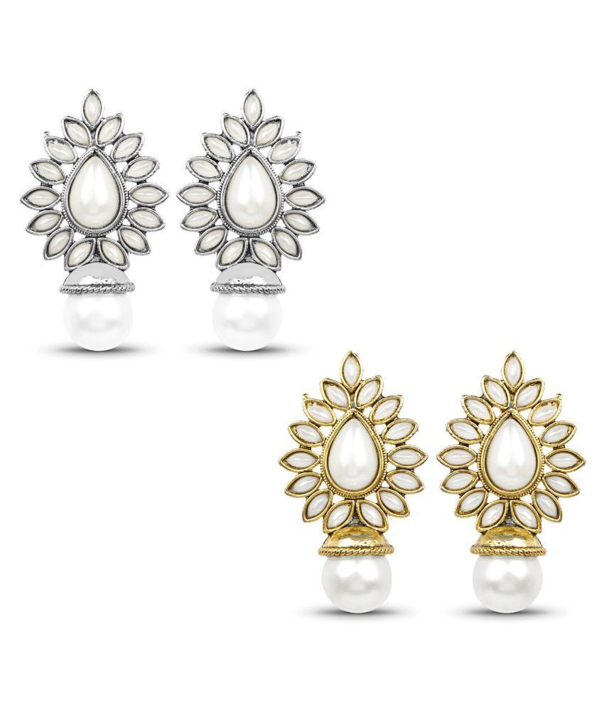 Johareez Multicolour Studs - Pack of 2