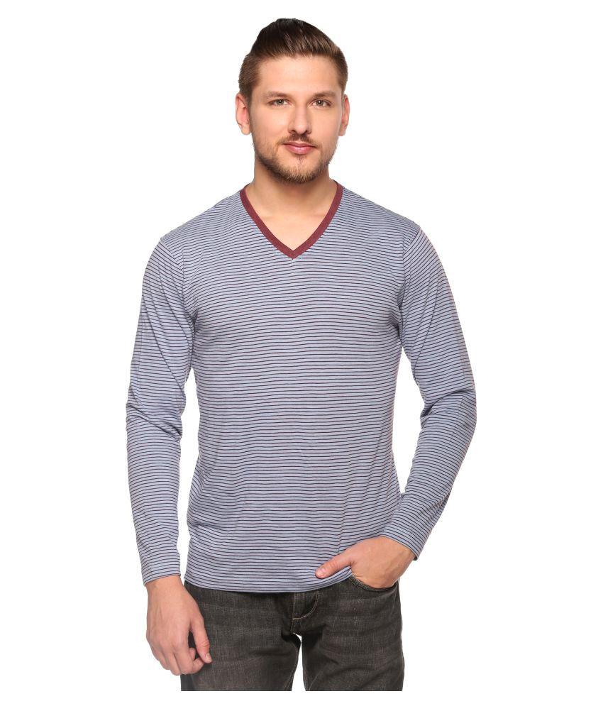 Club York Grey V-Neck T-Shirt
