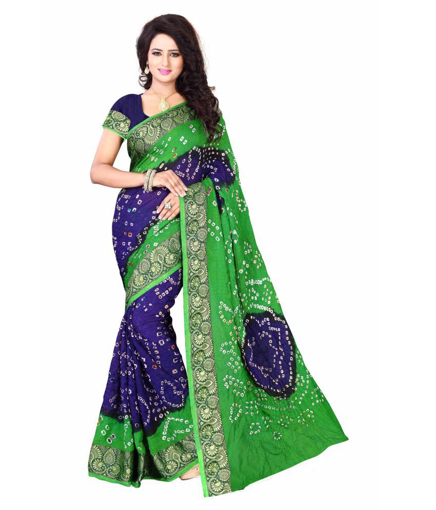 Greenvilla Designs Green Art Silk Saree