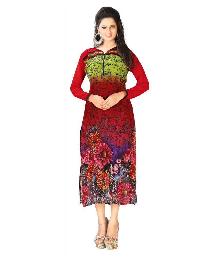 Yosshita & Neha Multi Color Georgette Dresses