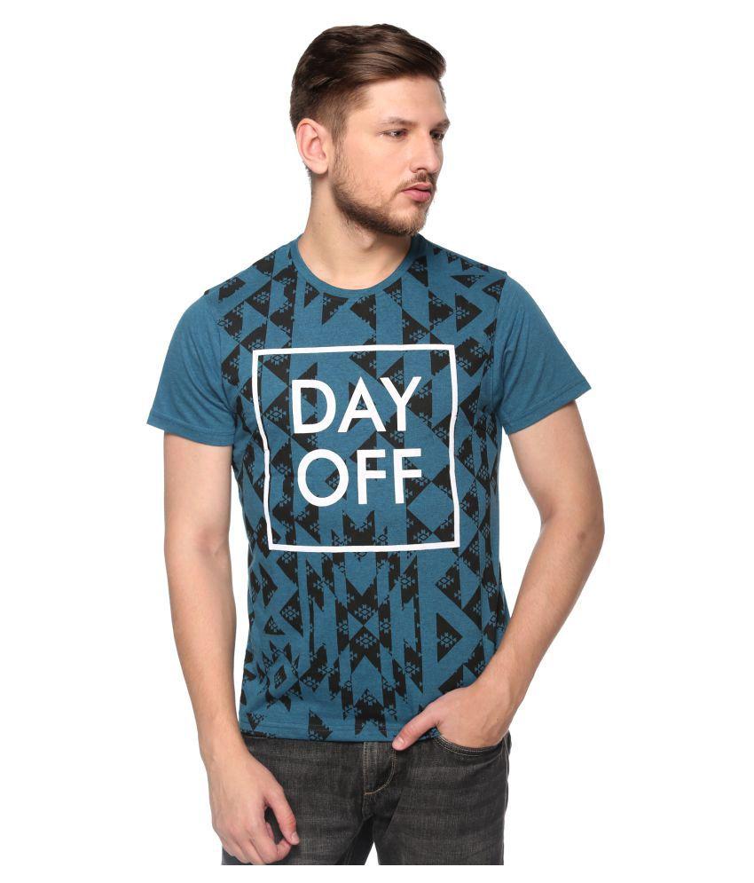 CLUB YORK Blue round T-Shirt