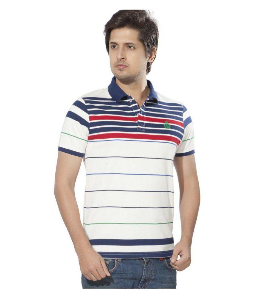Bonaty White Polo Neck T-Shirt