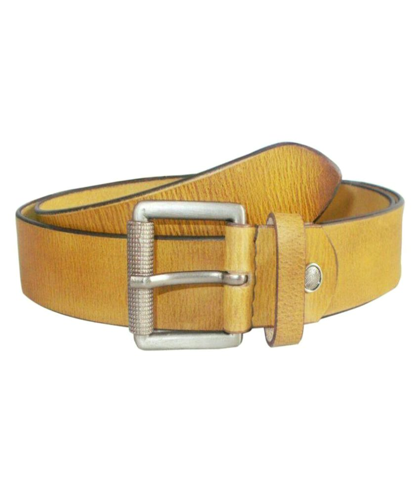 Hans Wing Yellow Leather Casual Belts