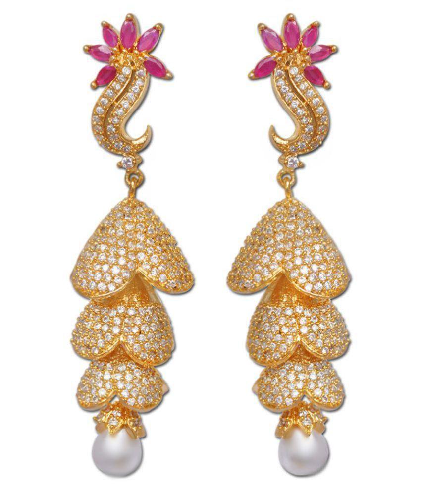 Enzy Golden Hanging Earrings