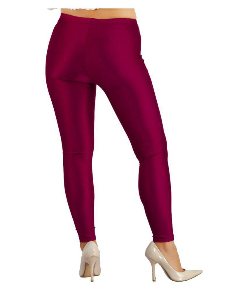 Fit 'N' You Poly Viscose Tights - Maroon