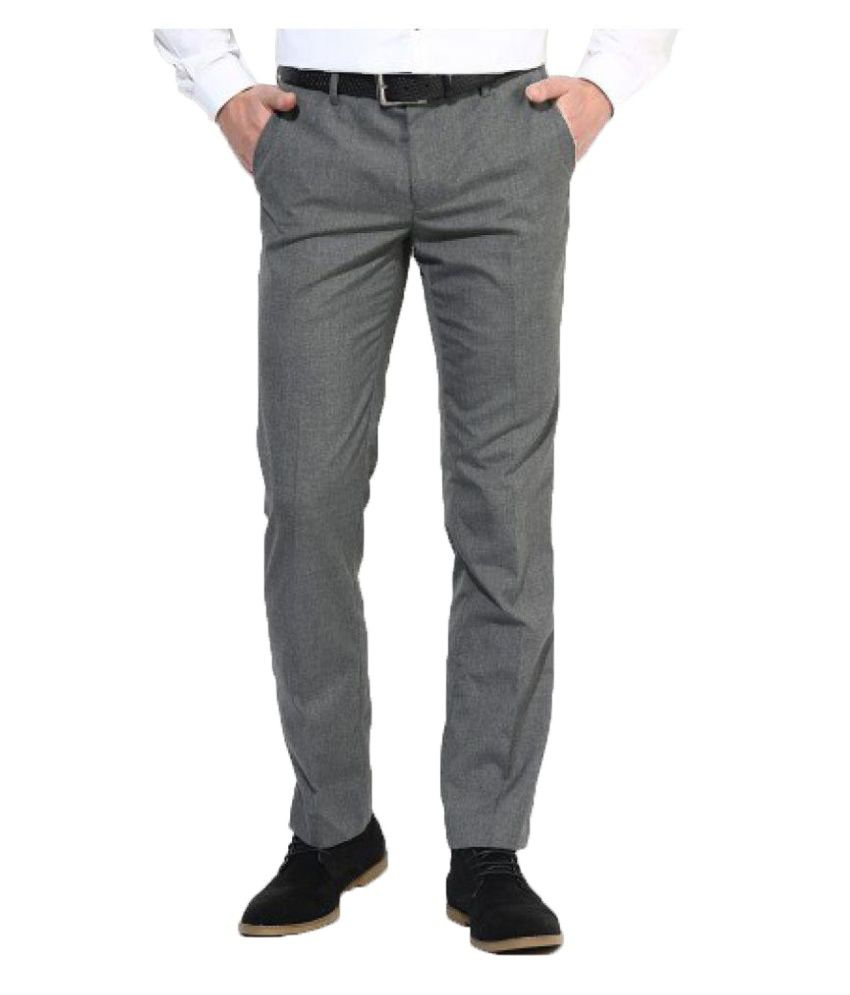 Inspire Clothing Inspiration Grey Slim Flat Trouser