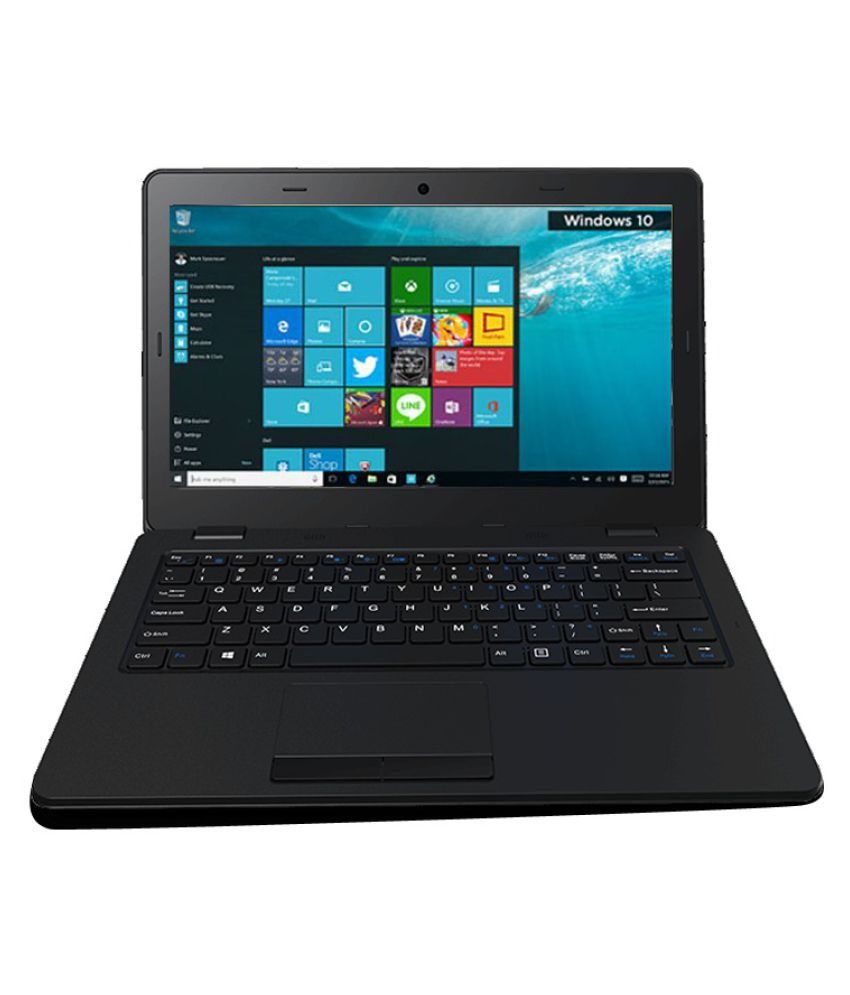 Micromax Canvas MMX-L1160 Notebook (Intel Atom- 2GB RAM- 32GB eMMC- 29.46 cm(11.6)- Windows 10) (Black)