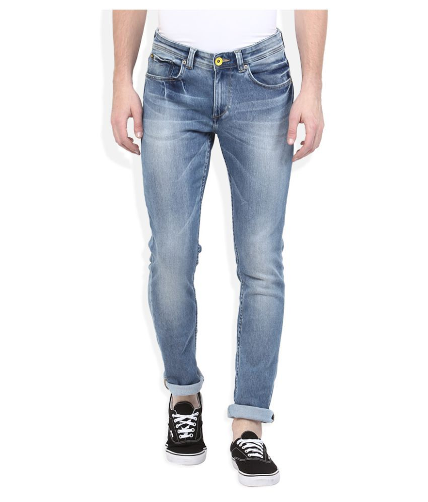 Spykar Blue Skinny Faded