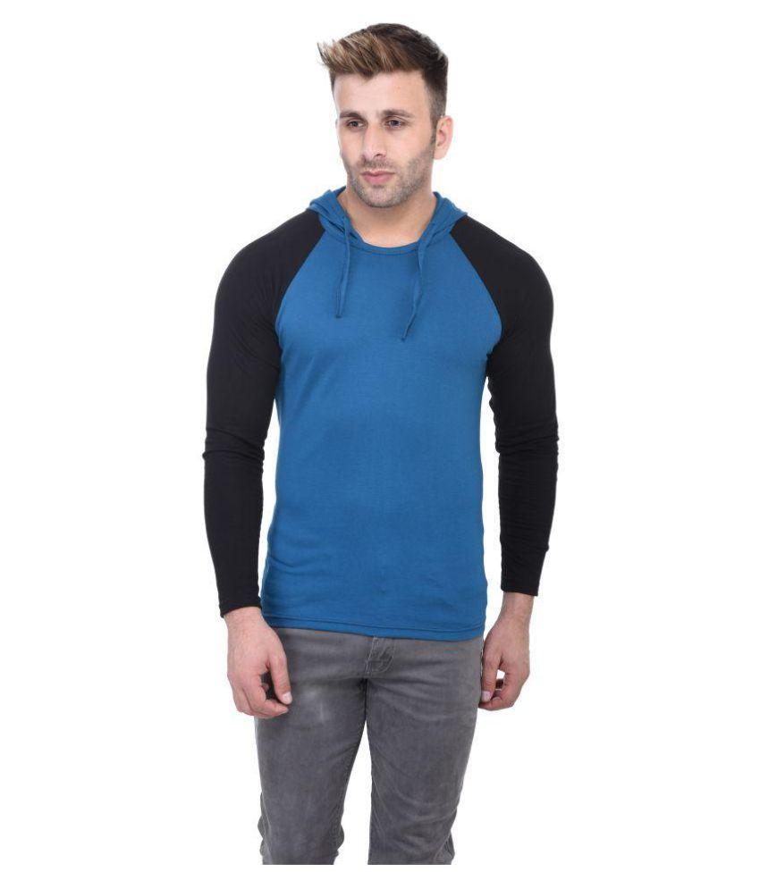 BI Fashion Turquoise Hooded T-Shirt
