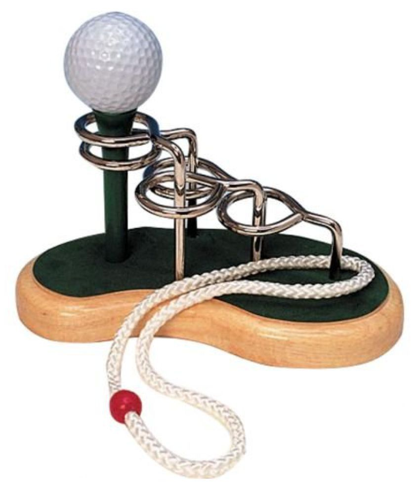 Bits And Pieces Golf Tee 3d Wooden String Puzzle Difficulty 9 Of