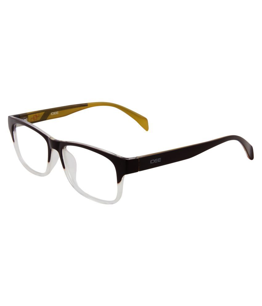 Idee Black Rectangle Spectacle Frame IDEE 1204 C5 FR