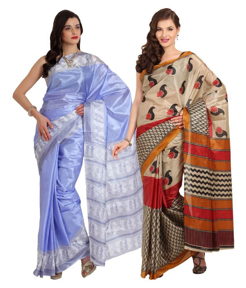 Parchayee Multicoloured Georgette Saree Combos