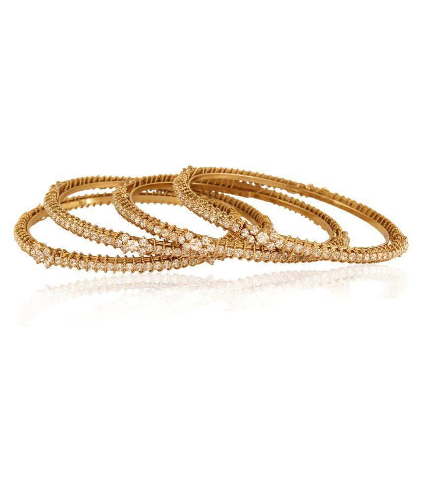 Accessher Golden Bangle Set