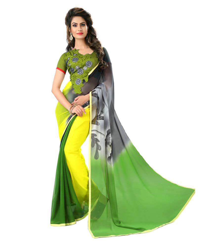 7 Star Jewel Multicoloured Georgette Saree