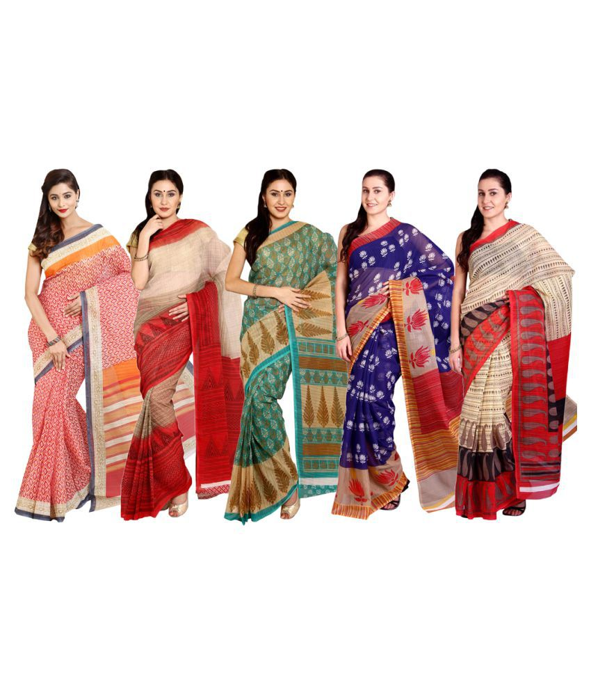 Parchayee Multicoloured Cotton Saree Combos