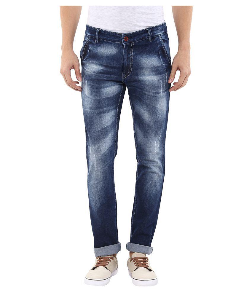 11cent Blue Slim Washed Men's Jeans