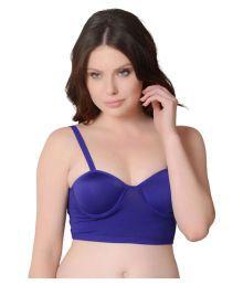 Gopalvilla Blue Nylon Sports Bras - 651882467787