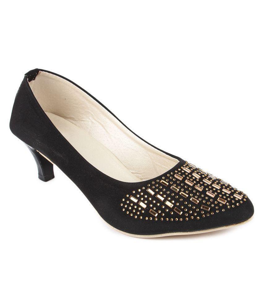 Nayra Creations Black Kitten Heels
