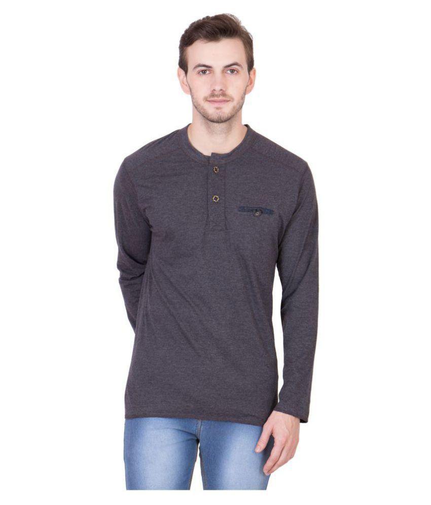 Cliths Grey Henley T-Shirt