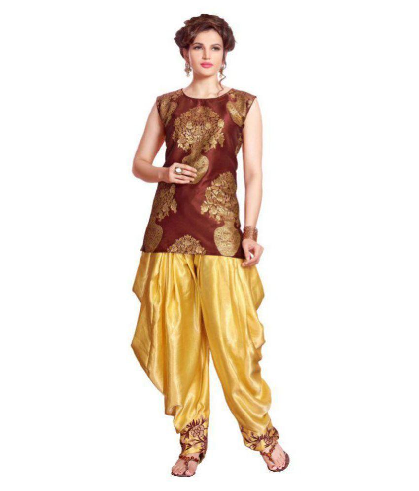 Kmozi Multicoloured Jacquard Dhoti style Kurti