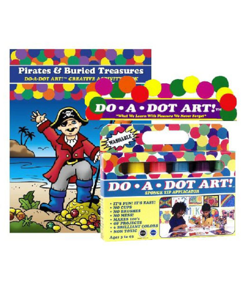 Do A Dot Art Marker Rainbow 6-pack Activity Book Gift Set - Pirates &  Buried Treasures kids educational toy for boys/girls