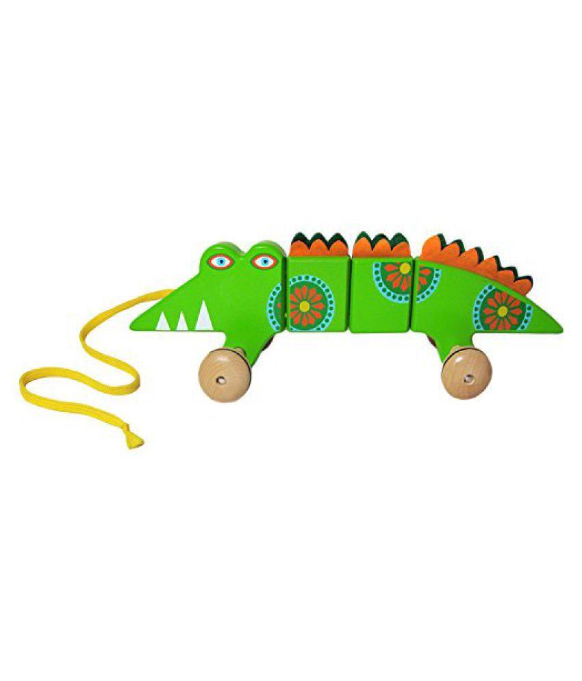 Sassafras Alligator Wooden Pull Toy