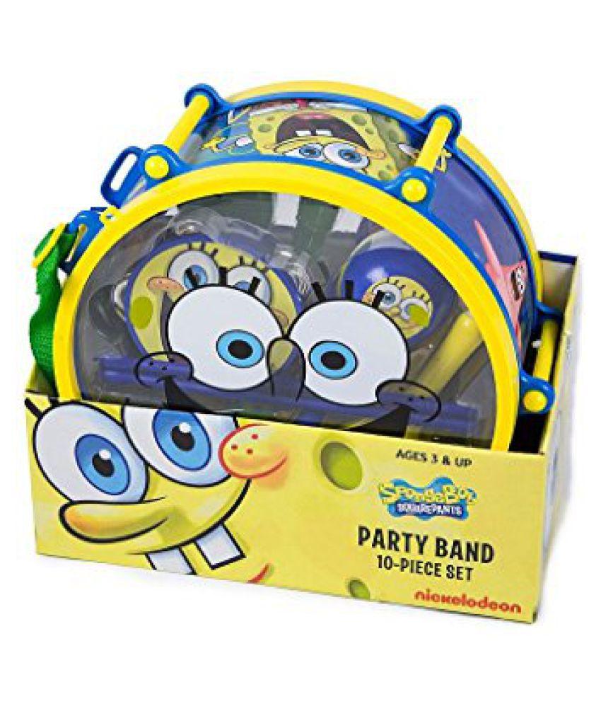 Spongebob Squarepants Party Band 10-Piece Musical Set with Drum