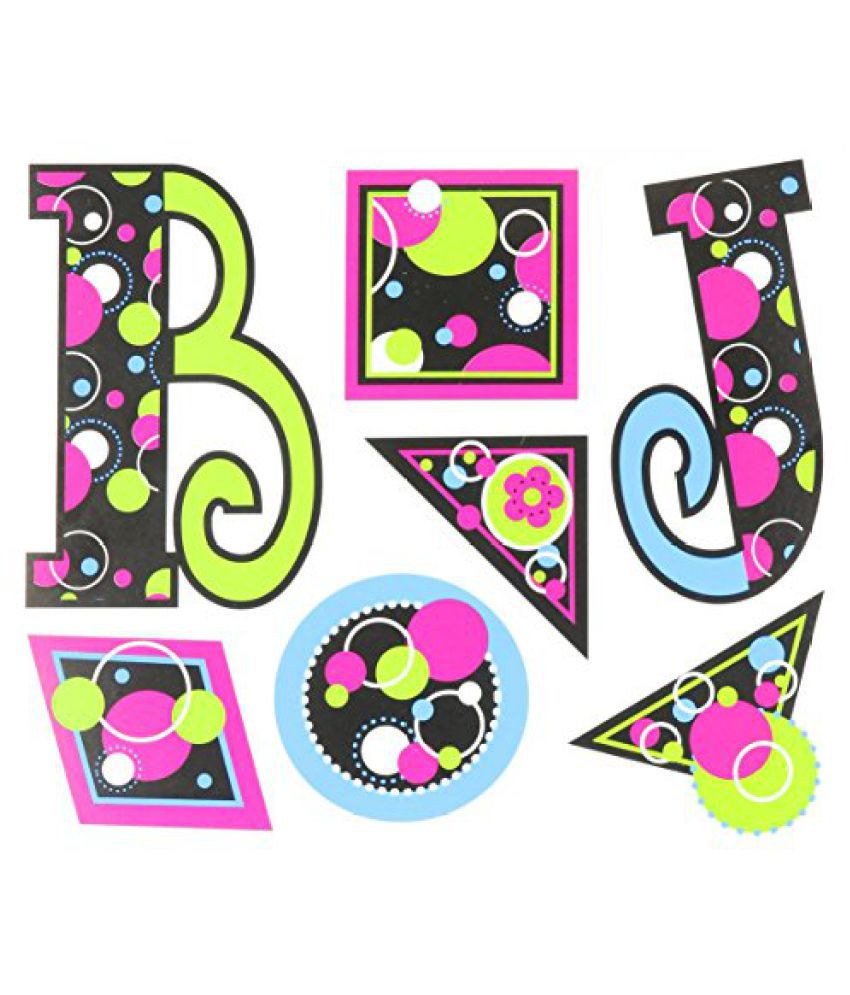 Teacher Created Resources Circle Frenzy 5-Inch Uppercase Fancy Font Letters