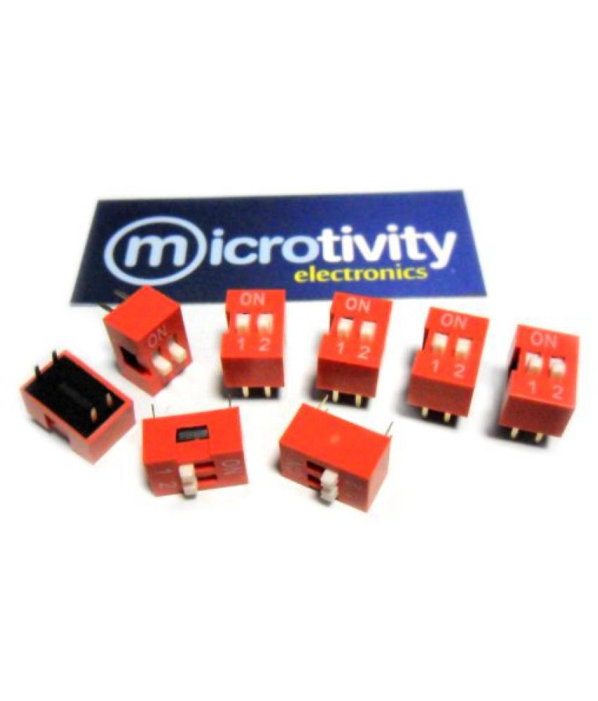 microtivity IM222 2-pole Dual-in-Line Switch (Pack of 8)