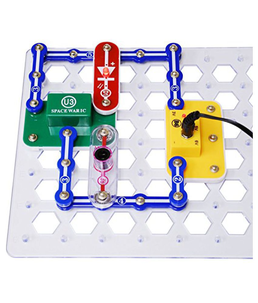 Elenco Snap Circuits Jr Deluxe Science And Engineering Kit With Battery Eliminator 2 Items