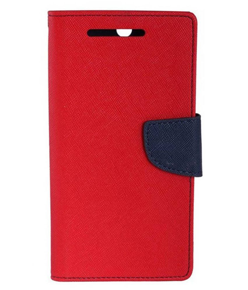 LYF Wind 1 Flip Cover by Top Grade - Red