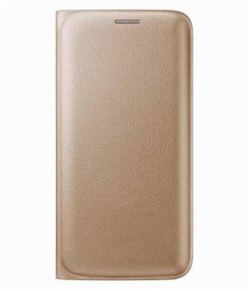 Oppo F1S Flip Cover by Top Grade - Golden