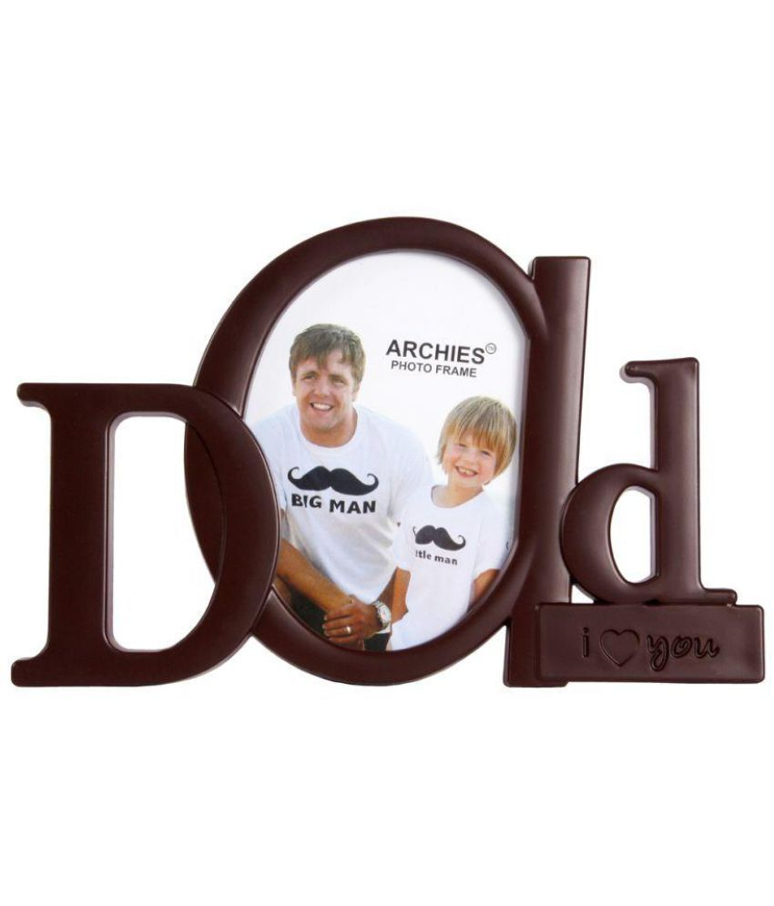 Archies Collage Frames Plastic TableTop Brown Single Photo Frame ...