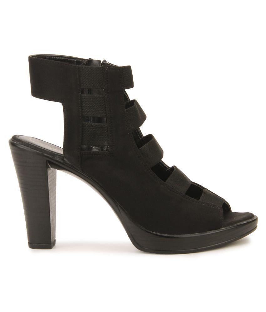 Catwalk Black Block Heels Price in