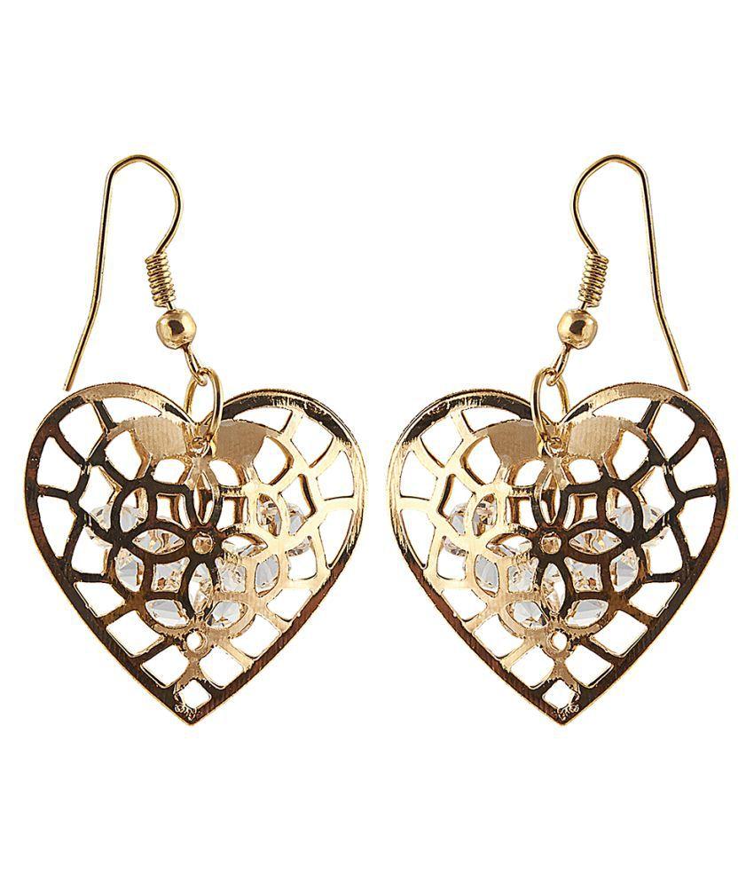 Kriaa Golden Chandelier Earrings