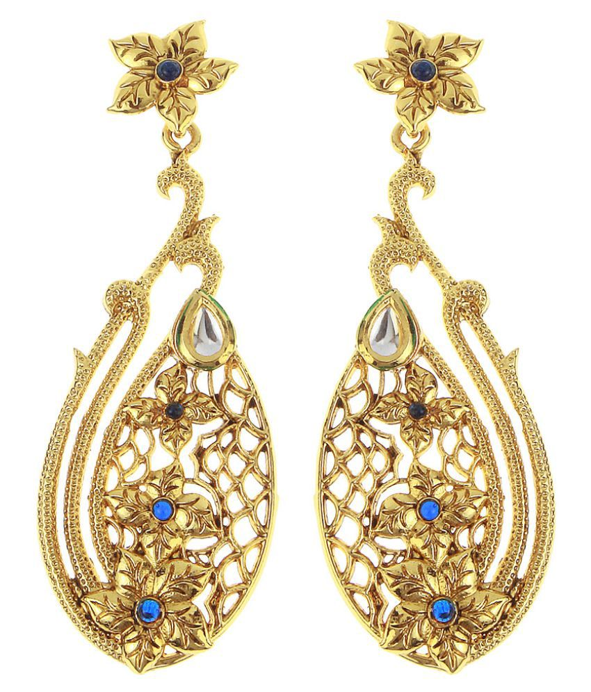 Kriaa Golden Hanging Earrings